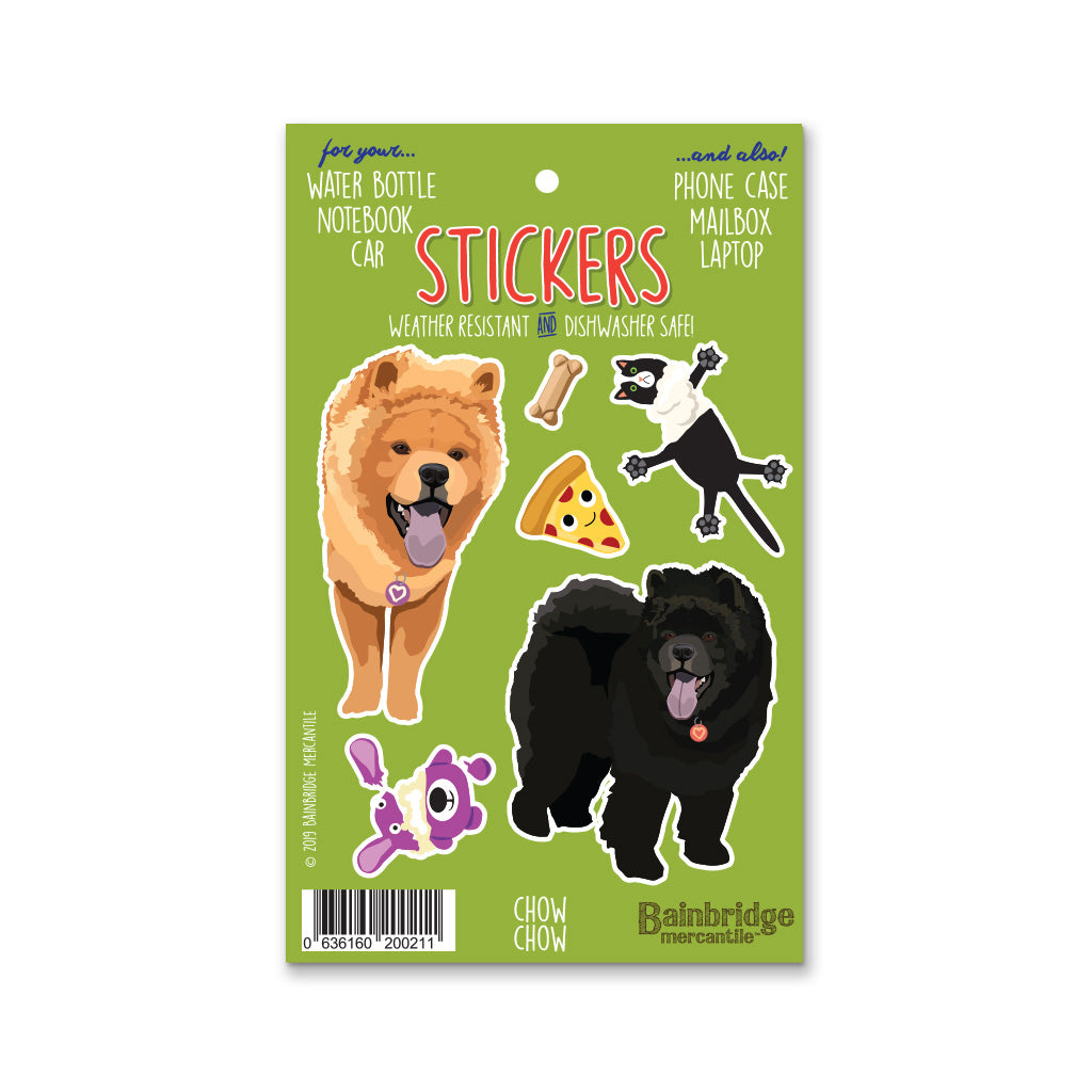 "Chow Chow - Sticker Sheet 4"" x 6.50"""