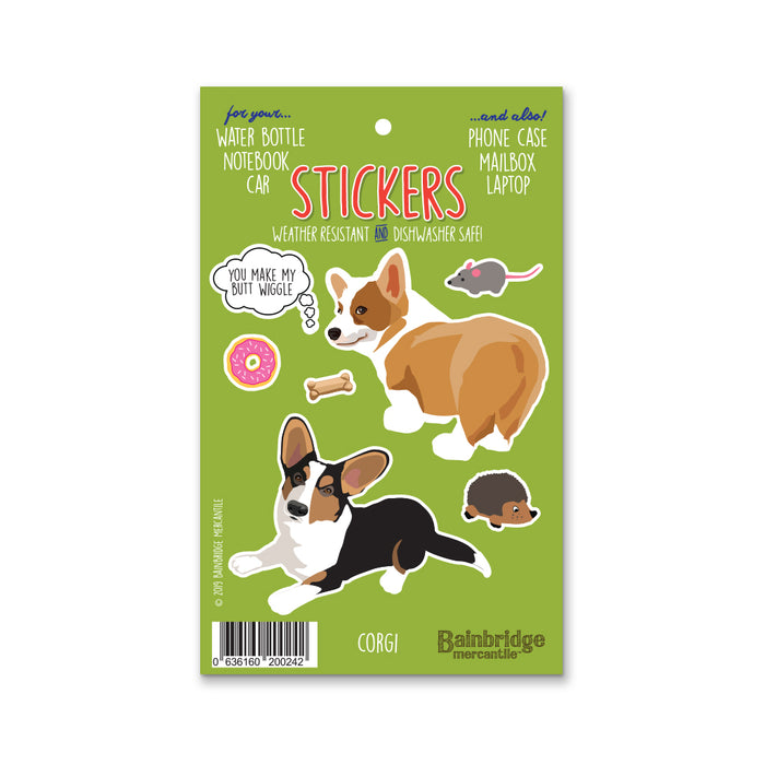 "Corgi - Sticker Sheet 4"" x 6.50"""