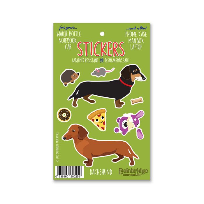 "Dachshund - Sticker Sheet 4"" x 6.50"""