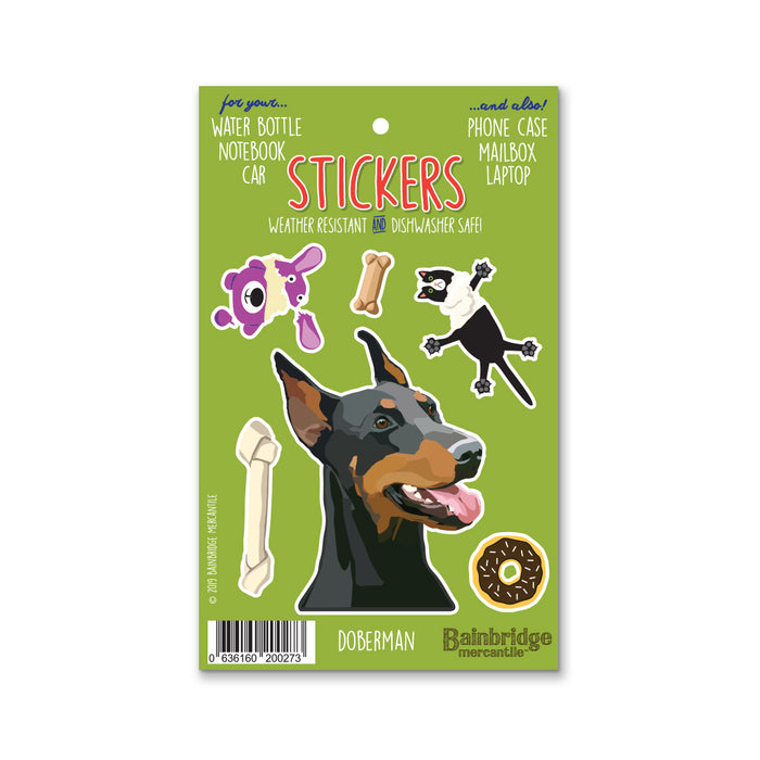 "Doberman - Sticker Sheet 4"" x 6.50"""