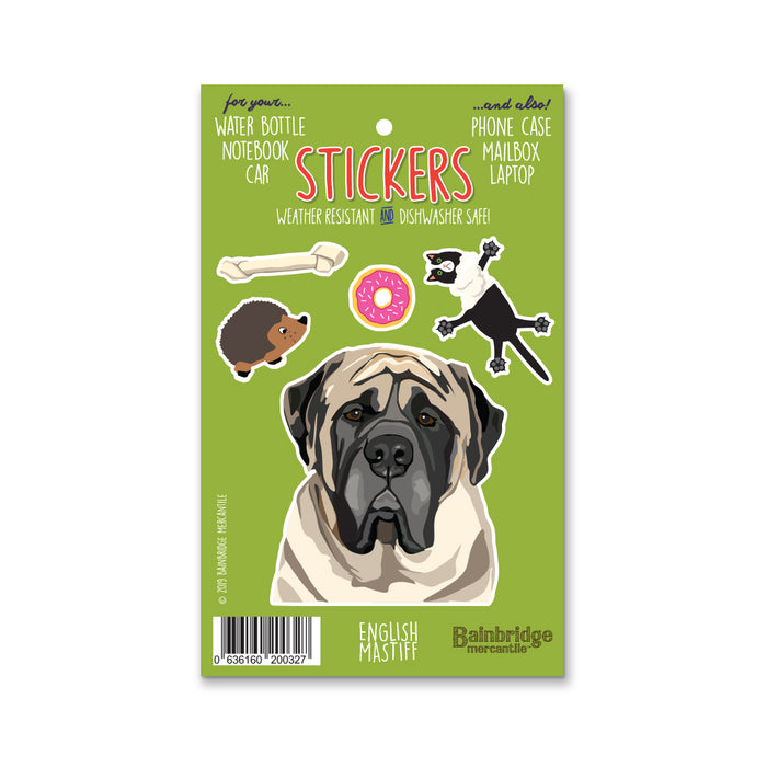 "English Mastiff - Sticker Sheet 4"" x 6.50"""