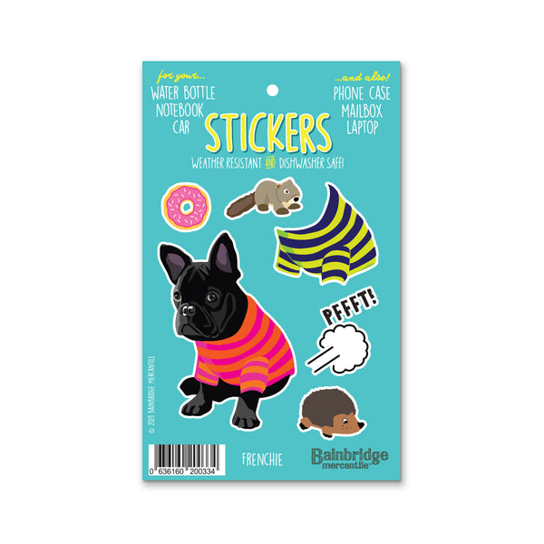 "Frenchie (Black) - Sticker Sheet 4"" x 6.50"""