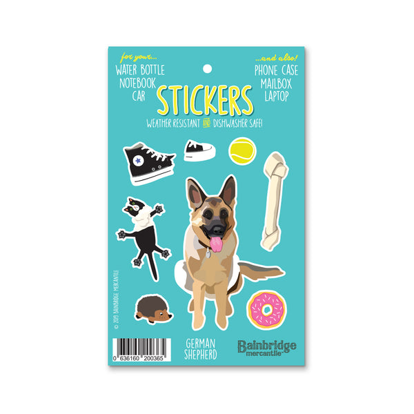 "German Shepherd - Sticker Sheet 4"" x 6.50"""
