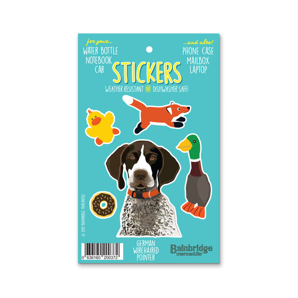 "German Wire Haired Pointer - Sticker Sheet 4"" x 6.50"""