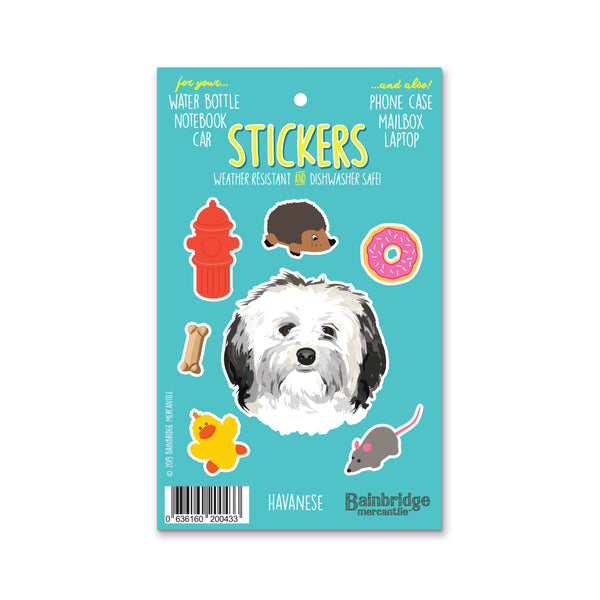 "Havanese - Sticker Sheet 4"" x 6.50"""