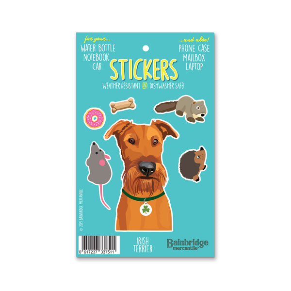 "Irish Terrier - Sticker Sheet 4"" x 6.50"""