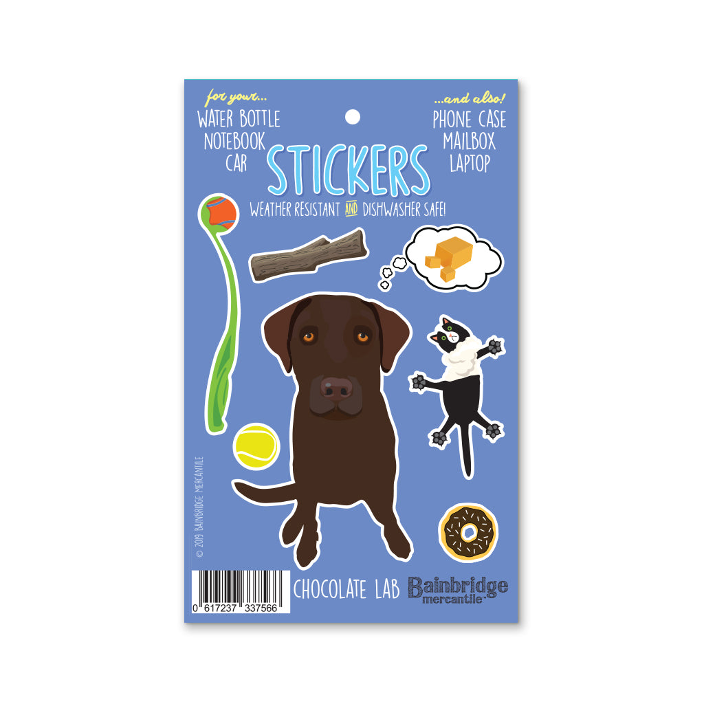 "Lab (Chocolate) - Sticker Sheet 4"" x 6.50"""