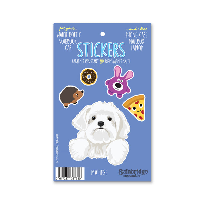"Maltese - Sticker Sheet 4"" x 6.50"""