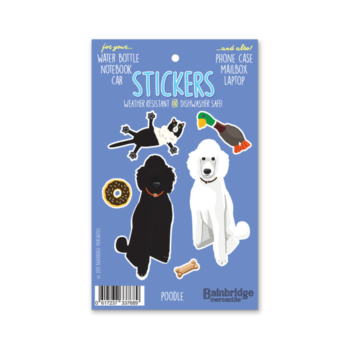 "Poodle - Sticker Sheet 4"" x 6.50"""