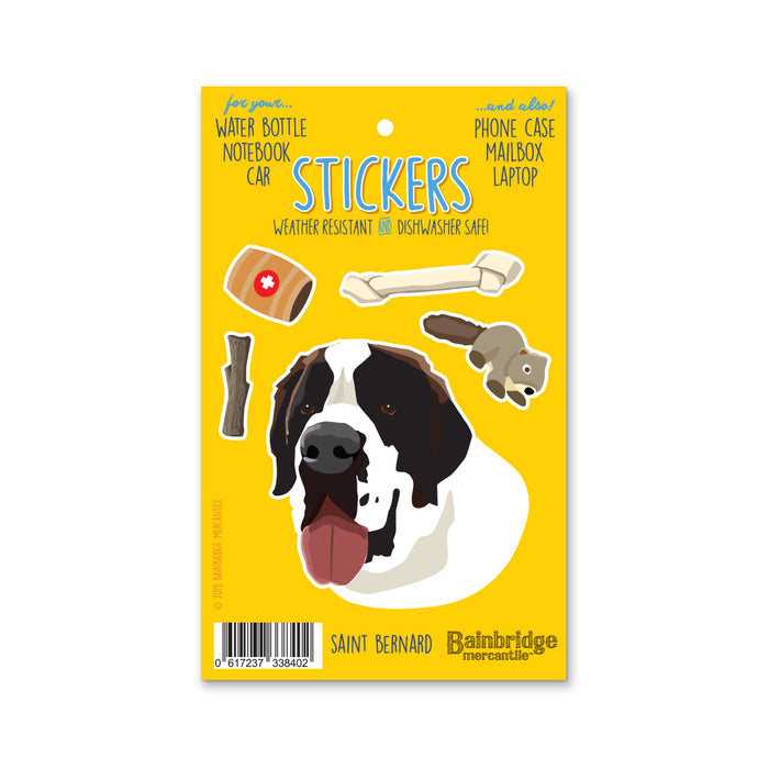 "Saint Bernard - Sticker Sheet 4"" x 6.50"""