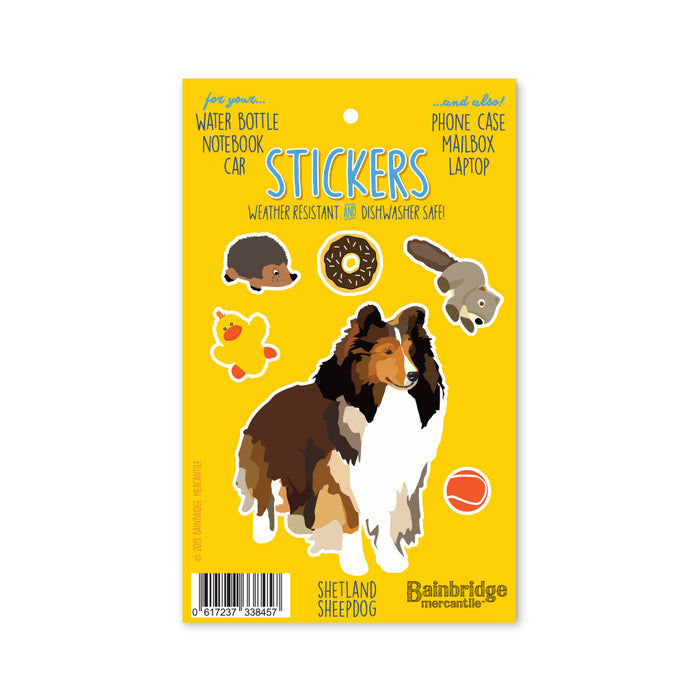 "Sheltie - Sticker Sheet 4"" x 6.50"""