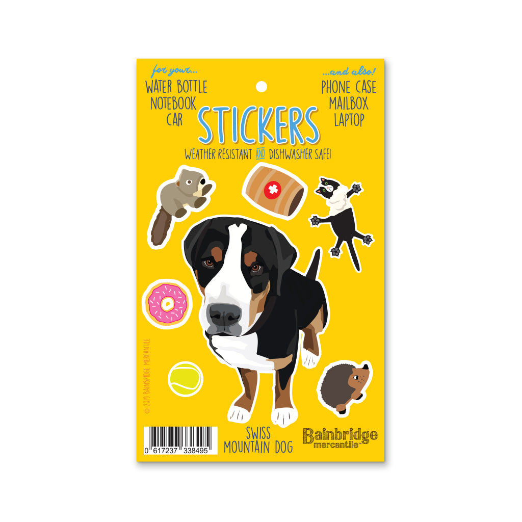 "Swiss Mountain Dog - Sticker Sheet 4"" x 6.50"""