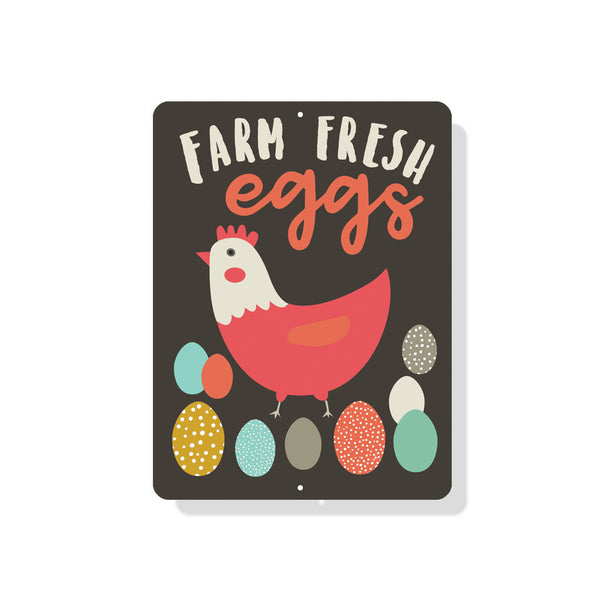 "Farm Fresh Eggs sign - 9"" x 12"" - Mod"