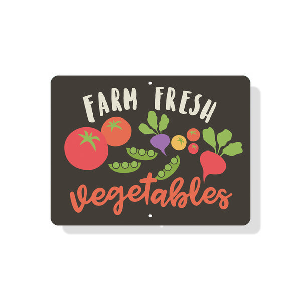 "Farm Fresh Vegetables for Sale sign - 9"" x 12"" - Mod"