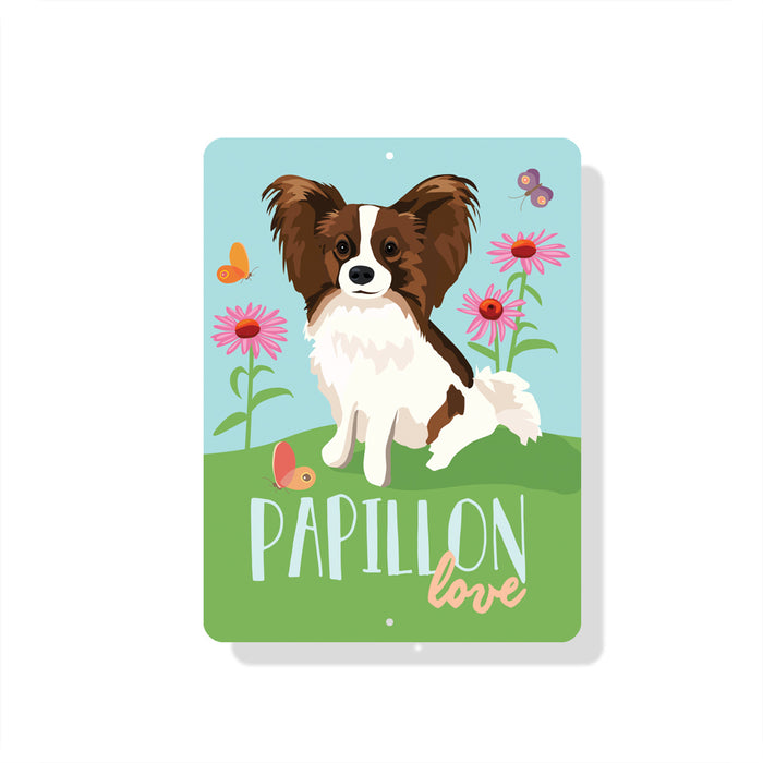 "Papillon Love Sign 9"" x 12"""