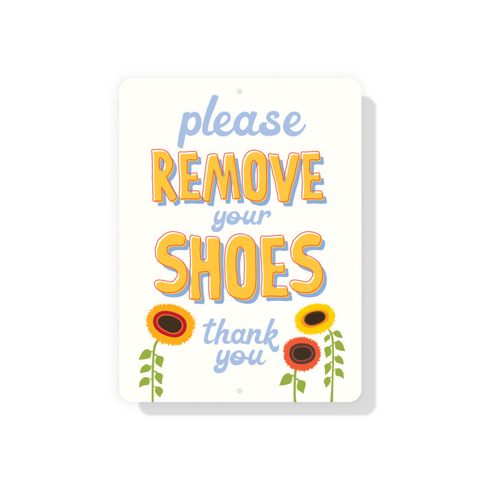 "Please Remove Shoes sign 9"" x 12"""