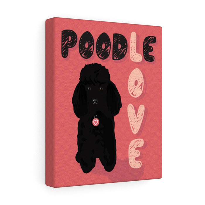 Poodle (black) Canvas Gallery Wrap