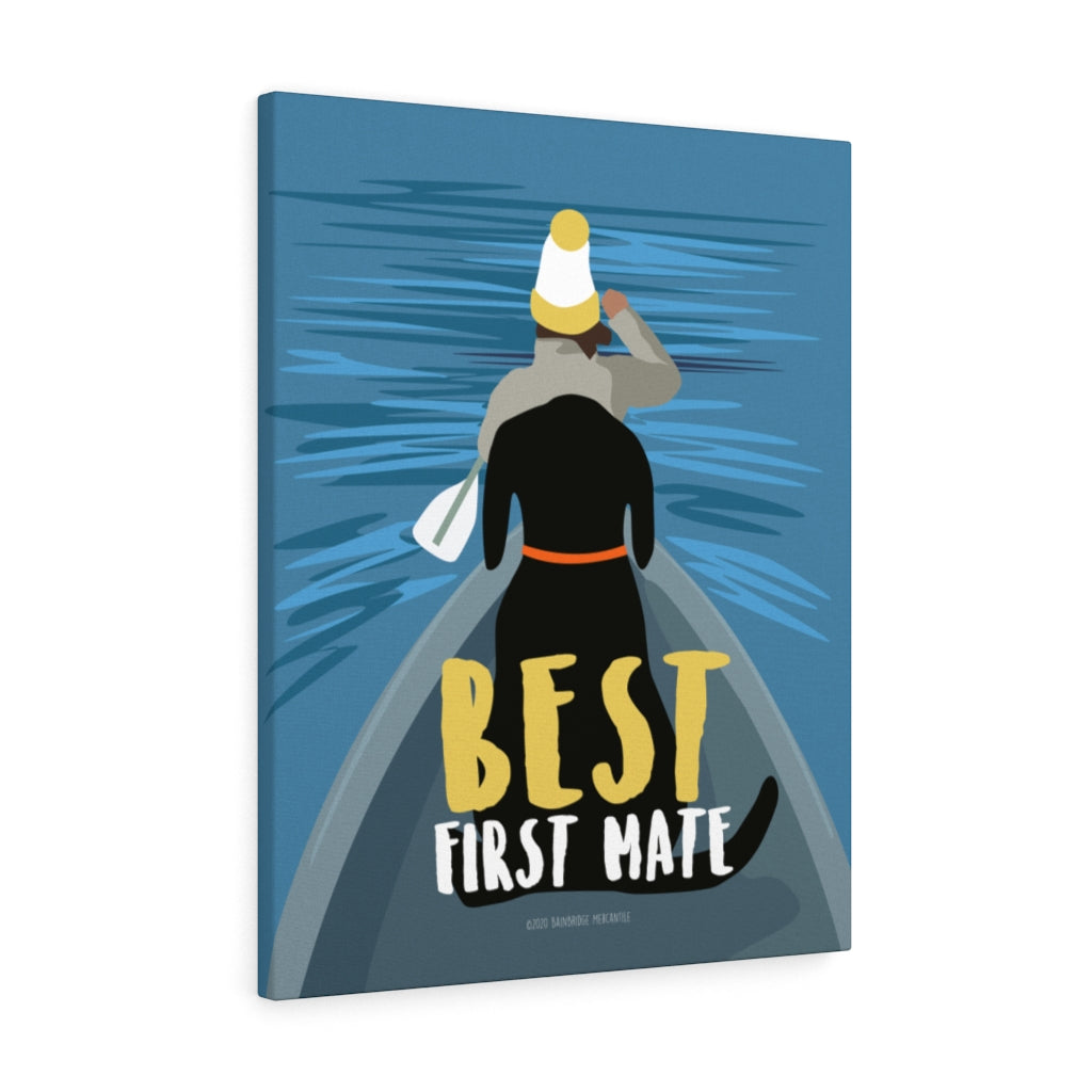 Best First Mate Canvas Gallery Wrap