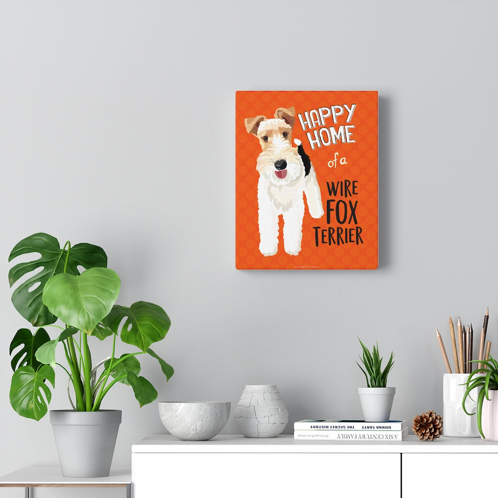 Wire Fox Terrier Canvas Gallery Wrap