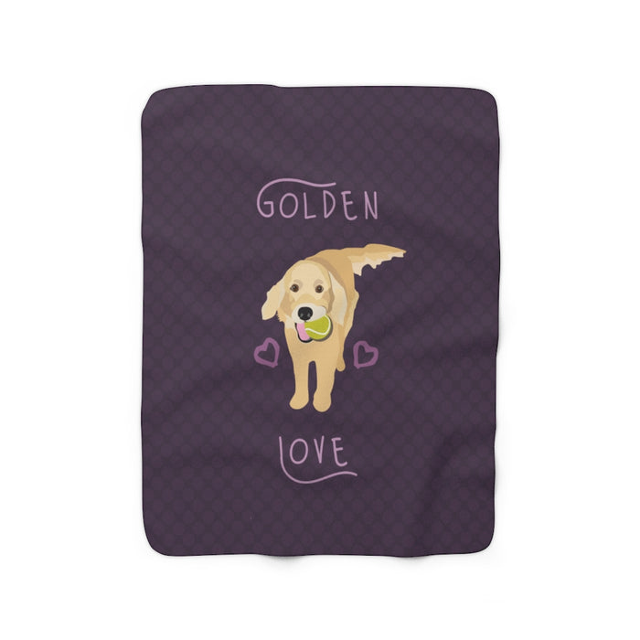 Golden Retriever Sherpa Fleece Blanket