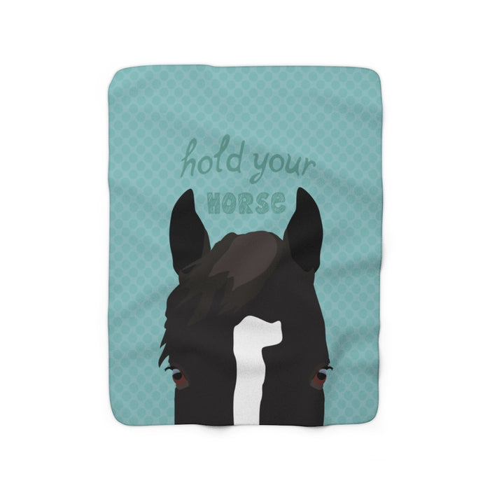 Hold Your Horse Sherpa Fleece Blanket