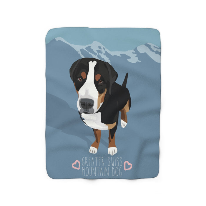 Greater Swiss Mountain Dog Sherpa Fleece Blanket