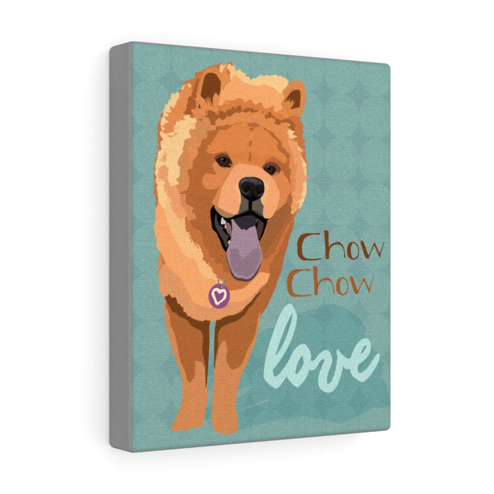 Chow Chow (brown) Canvas Gallery Wrap