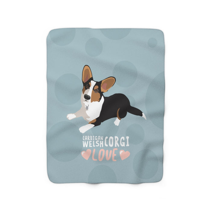 Cardigan Welsh Corgi Love Sherpa Fleece Blanket