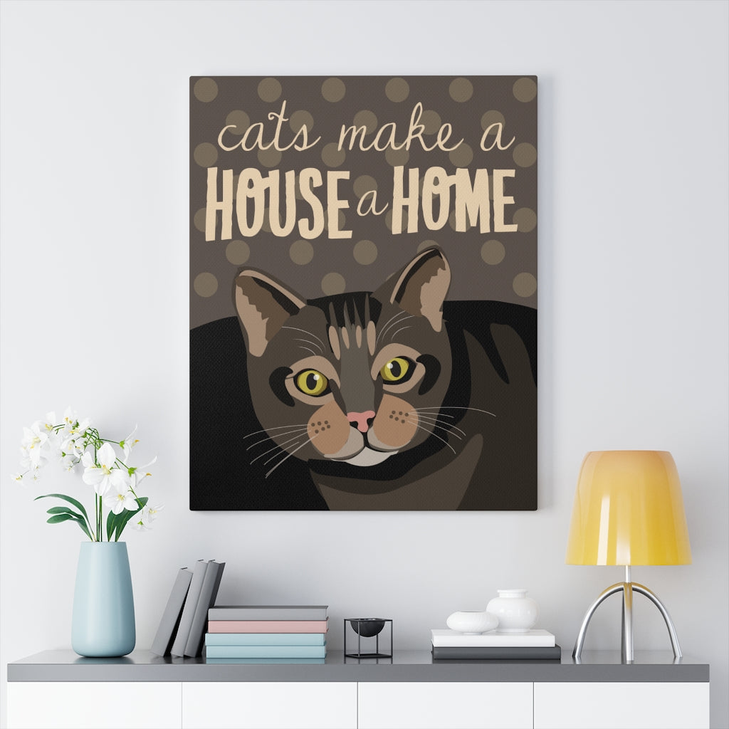 Tabby Cat Canvas Gallery Wrap