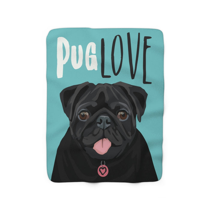 Pug Love Sherpa Fleece Blanket