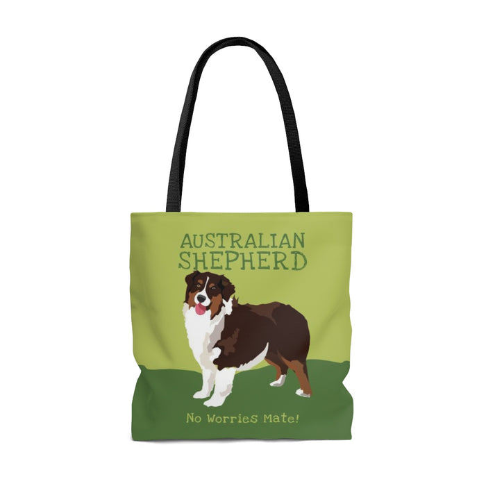 Australian Shepherd (Black Dog) Tote Bag