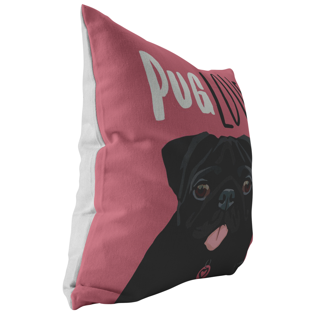 Pug (Black Dog) Pillow