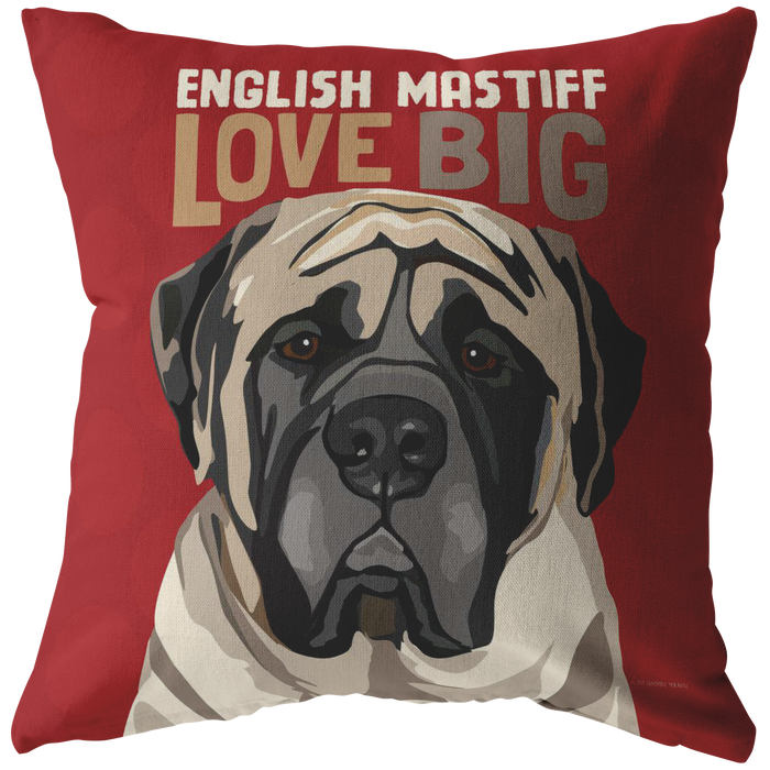 English Mastiff Pillow