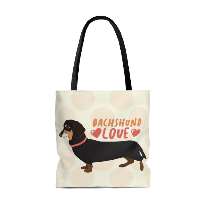 Dachshund (Black & Tan Dog) Tote Bag