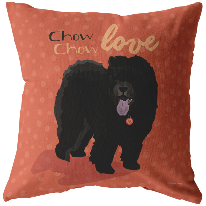 Chow Chow (Black Dog) Pillow
