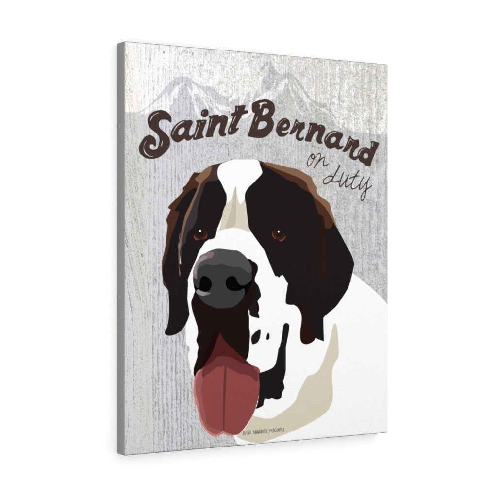 Saint Bernard Canvas Gallery Wrap