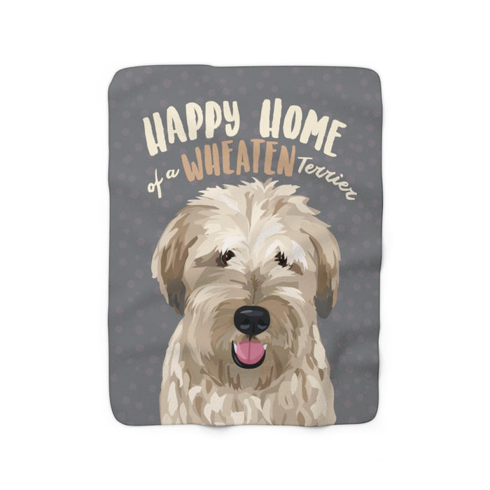 Wheaten Terrier Sherpa Fleece Blanket