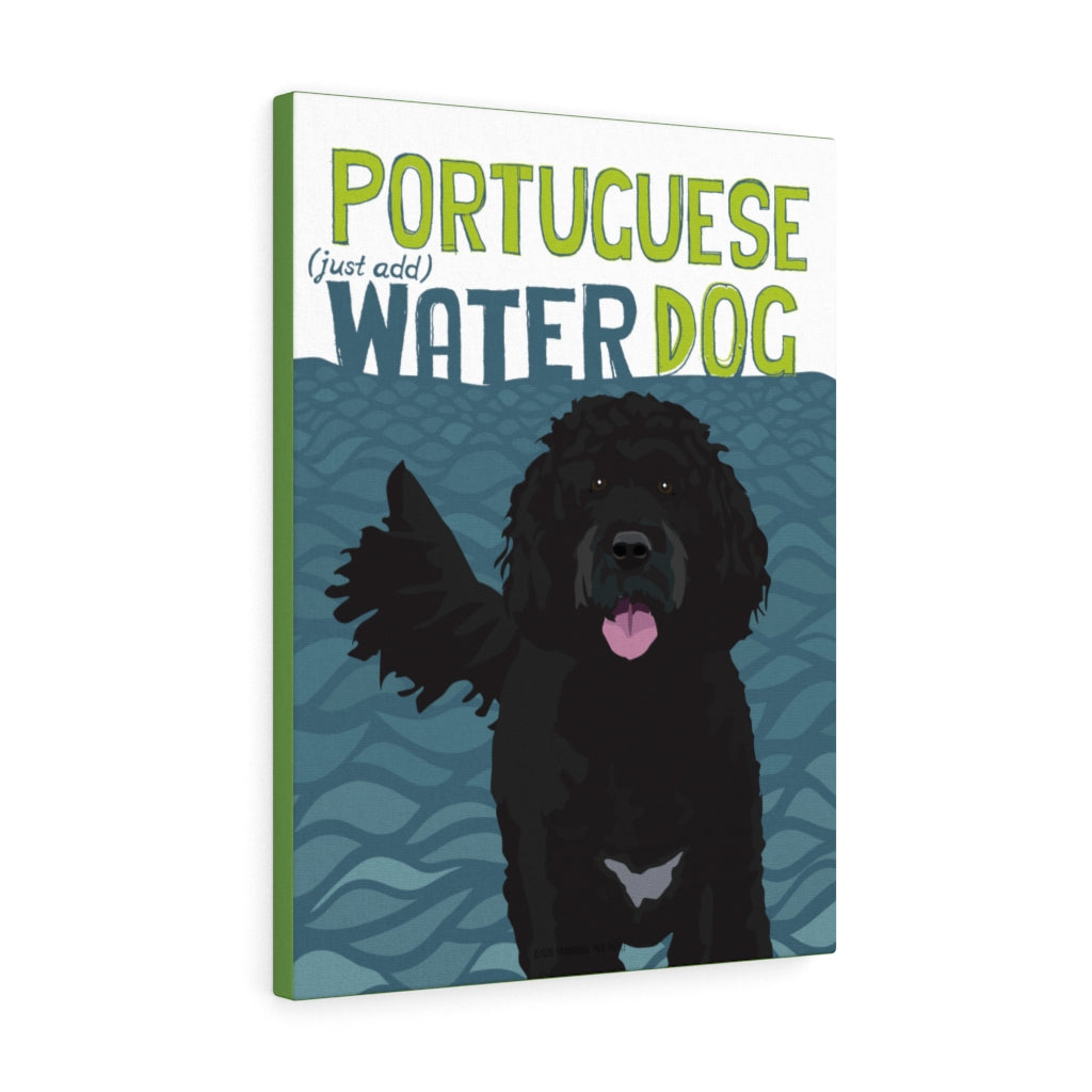 Portuguese Water Dog Canvas Gallery Wrap