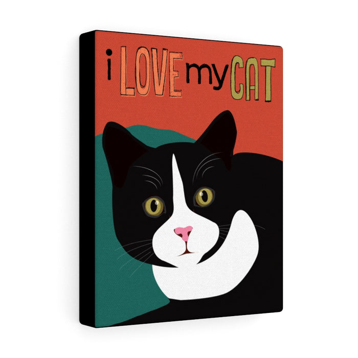 I Love My Cat Canvas Gallery Wrap