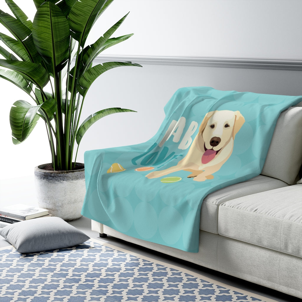 Yellow Lab Sherpa Fleece Blanket