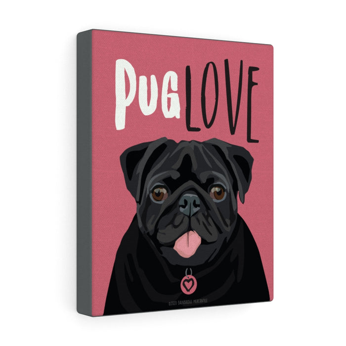 Pug (black) Canvas Gallery Wrap