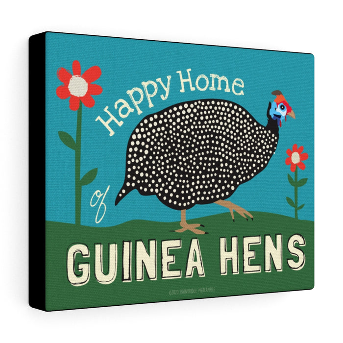Guinea Hens Canvas Gallery Wrap