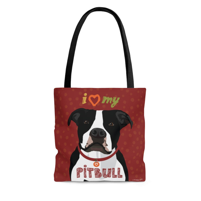 Pit Bull (Black & White) Tote Bag