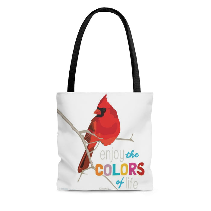 Enjoy the Colors of Your Life (Cardinal) Tote Bag