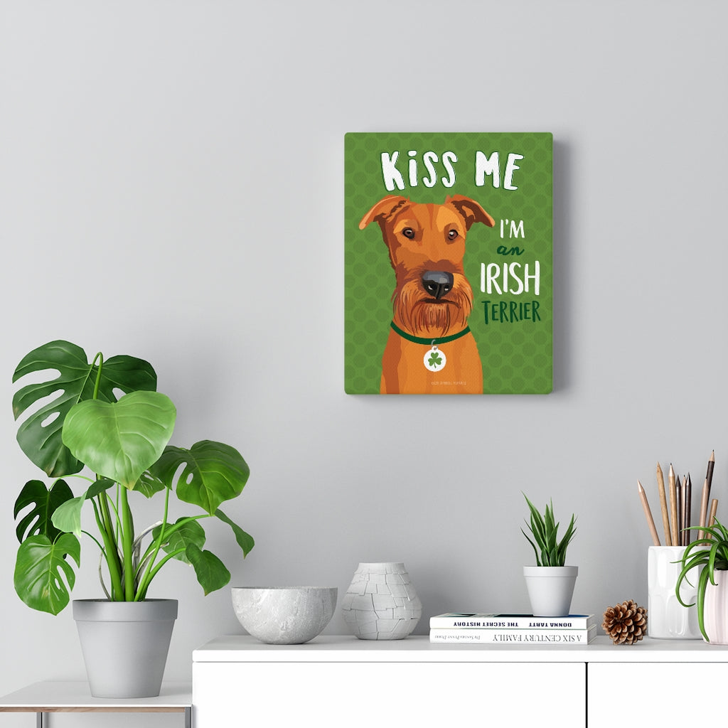 Irish Terrier Canvas Gallery Wrap