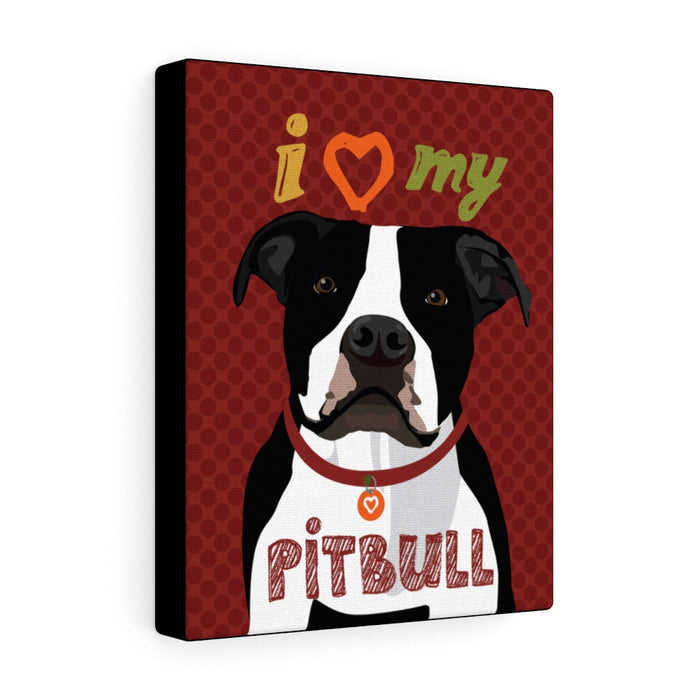 Pit Bull (B&W) Canvas Gallery Wrap
