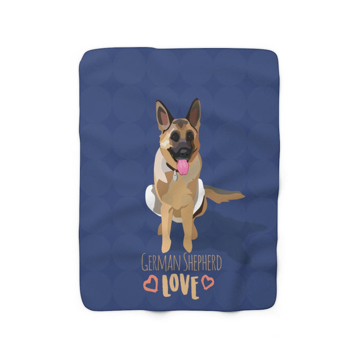 German Shepherd Sherpa Fleece Blanket