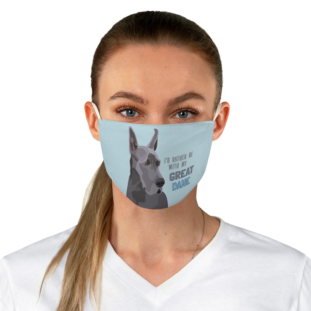 Great Dane (cropped ears) Face Mask