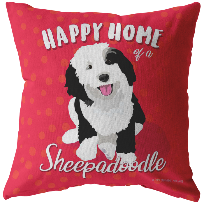 Sheepadoodle Pillow