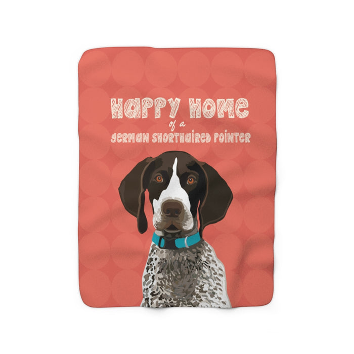 German Shorthaired Pointer Sherpa Fleece Blanket